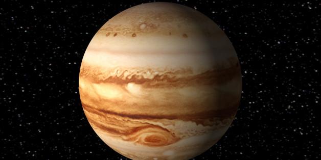 Jupiter ist der fünfte Planet im Sonnensystem.