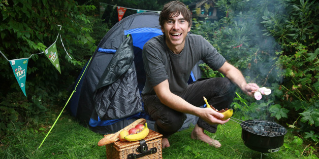 EDITORIAL USE ONLYTelevision presenter, explorer and author Simon Reeve teams up with The Caravan Club to encourage families to spend more time together outside this summer, with the new Big Little Tent Festival.