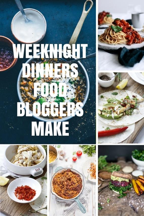 weeknight dinner food bloggers make
