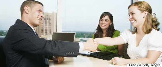 shaking hands client