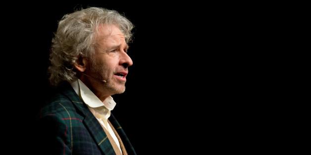 Der Moderator und Entertainer Thomas Gottschalk spricht am 21.10.2015 im Internationalem Congress Center in München (Bayern) während der Eröffnung der Münchner Medientage.