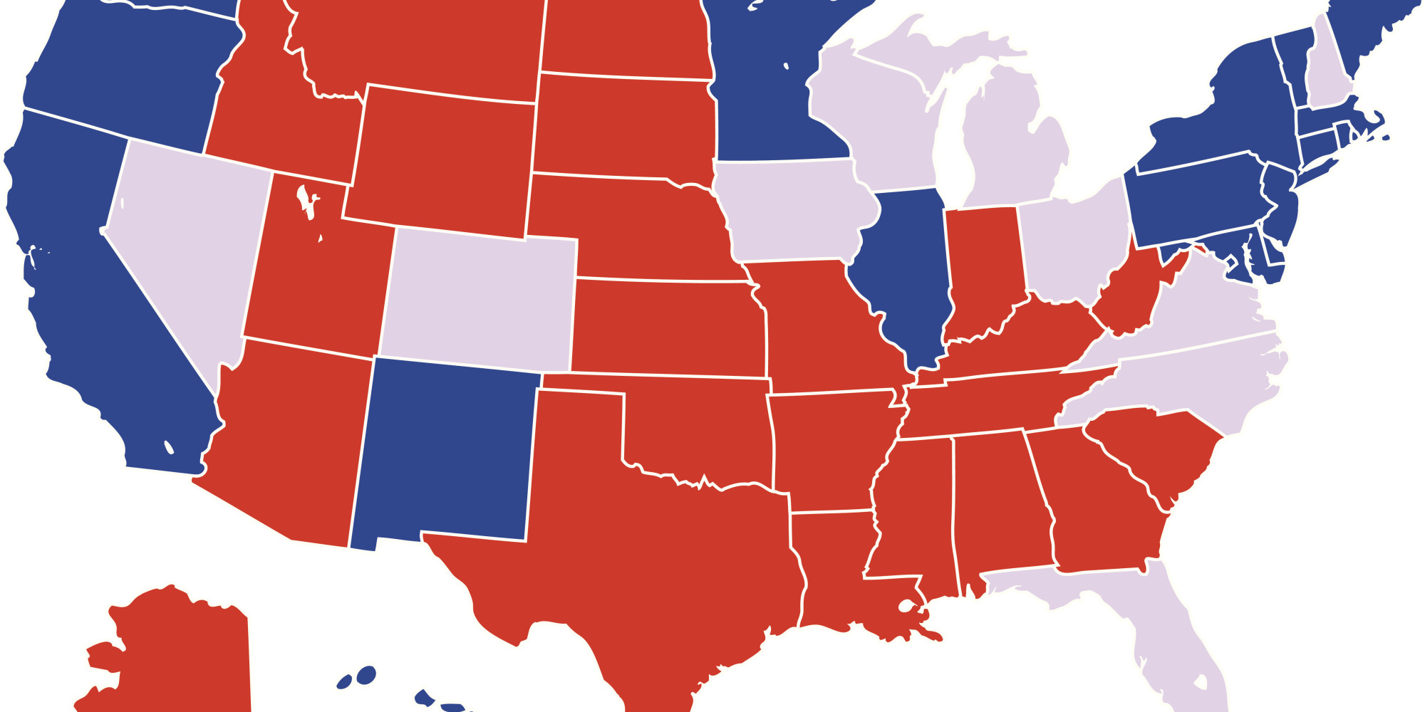 Early Vote Election Eve Predictions HuffPost - Huffington post us election map