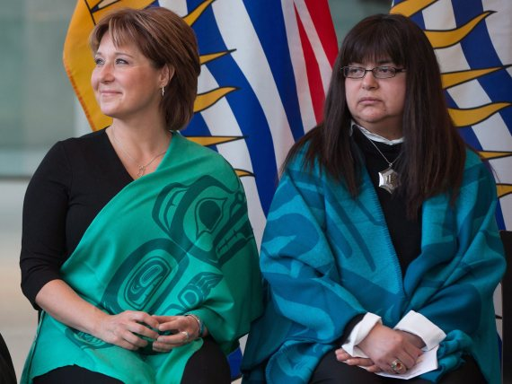 christy clark marilyn slett coastal first nations