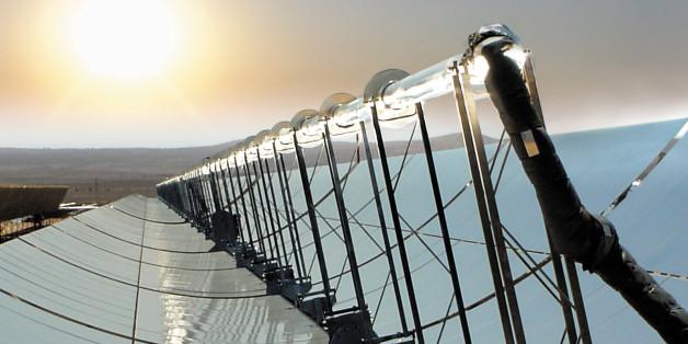 Einer der größten Solarparks der Welt wurde jetzt in Marokko nahe der Sahara eröffnet (Symbolbild)