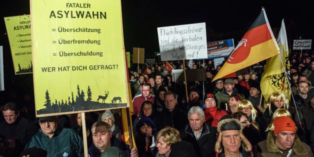 AfD-Demonstranten.