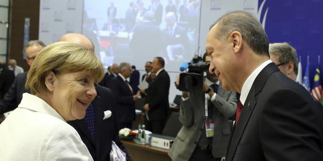 Angel Merkel und Recep Tayyip Erdogan beim Weltklimagipfel