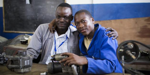 In der Schule lernen Flüchtlinge alles für den Berufseinstieg