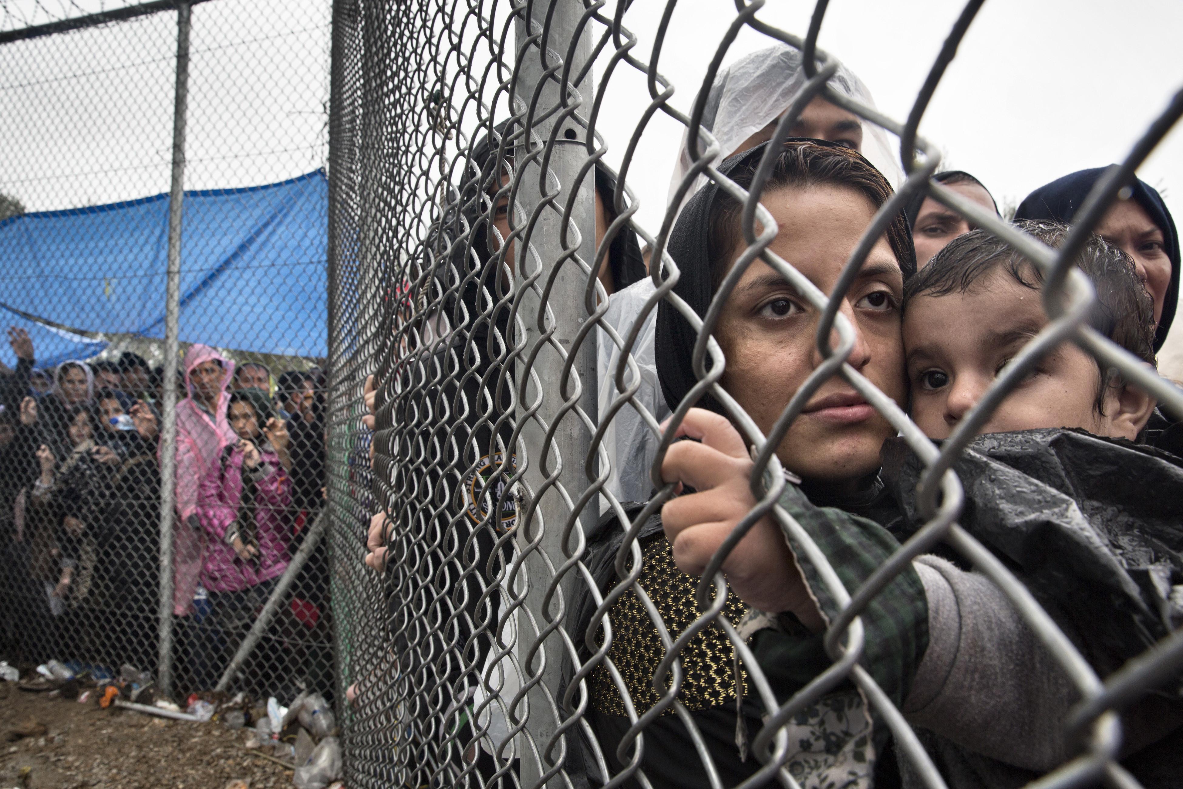 refugee camp lesvos
