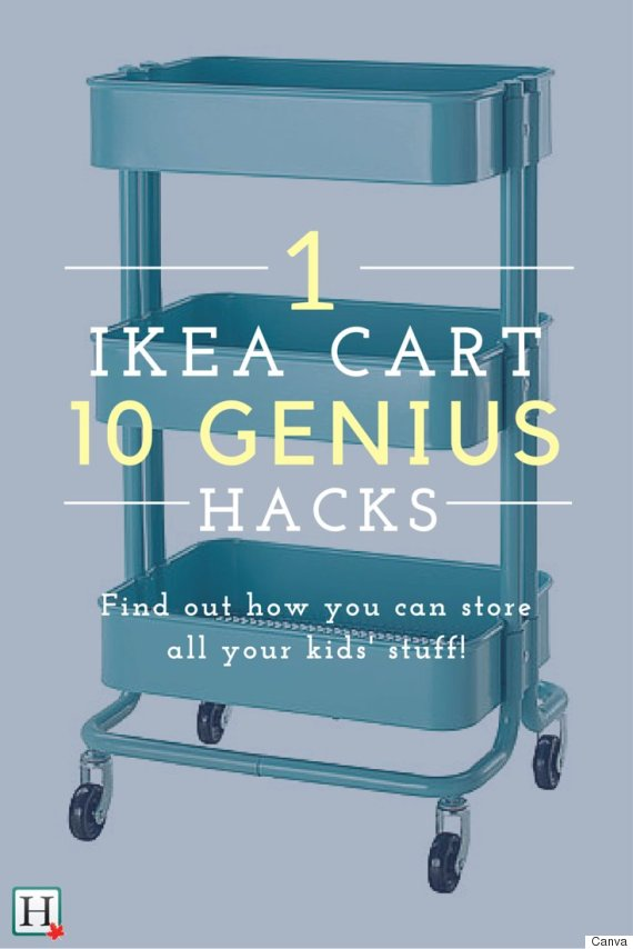 ikea hacks 10 reasons every parent needs the raskog cart huffpost canada. Black Bedroom Furniture Sets. Home Design Ideas