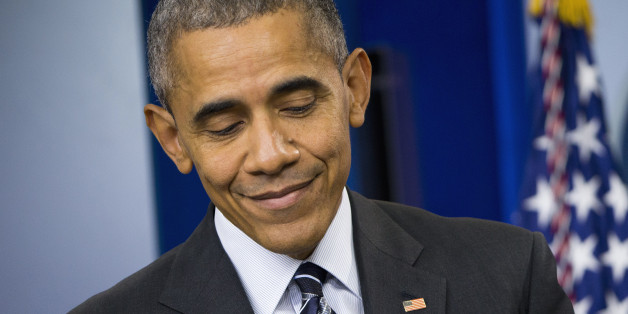 President Barack Obama pauses while speaking about the economy, Friday, Feb. 5, 2016, in the Brady Press Briefing Room of the White House in Washington. The president said the U.S. has the strongest, most durable economy in the world. He pointed to wage and income growth, job growth, lower oil prices and increasing health insurance as evidence. (AP Photo/Pablo Martinez Monsivais)