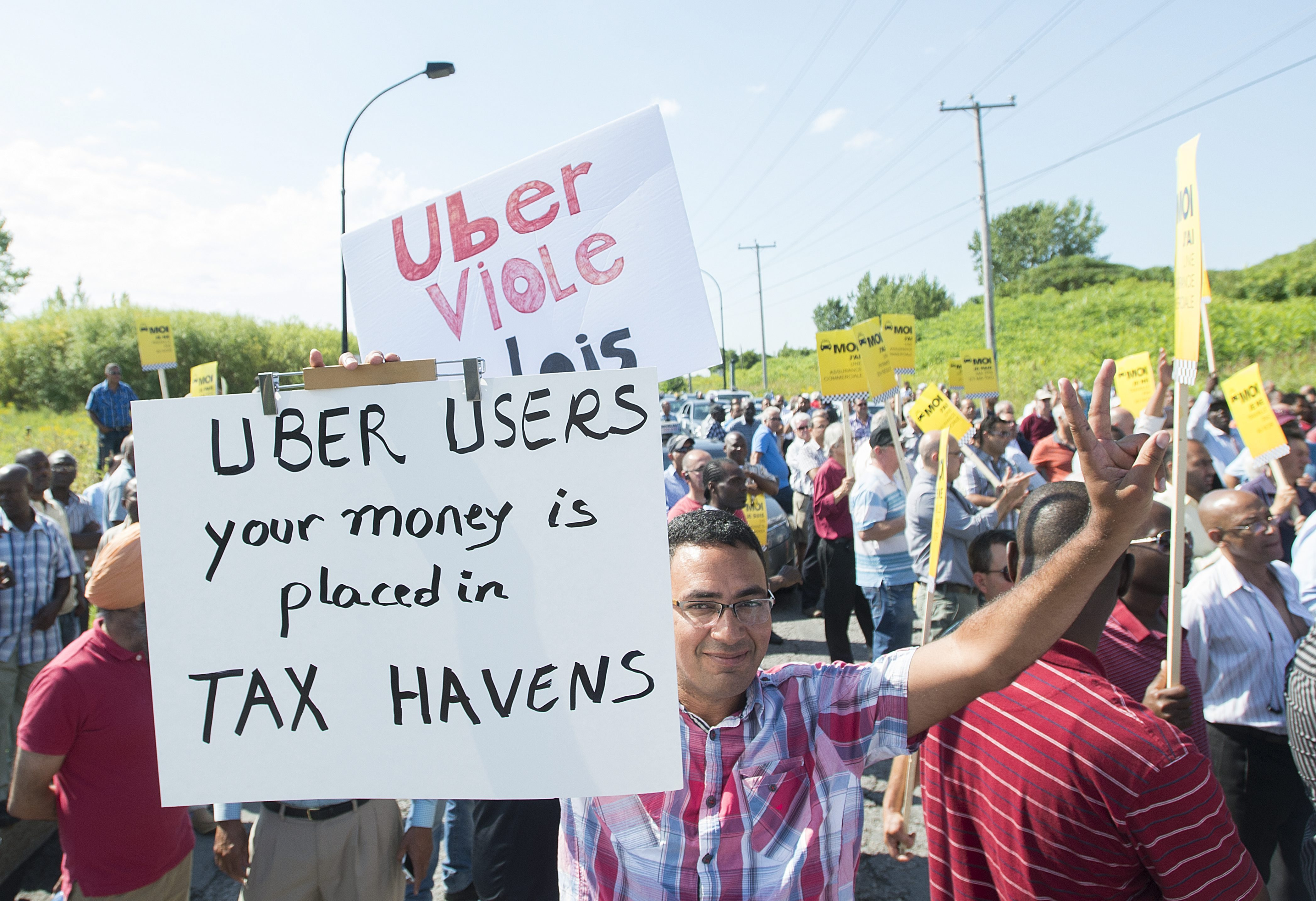 uber protest montreal