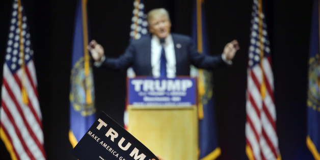 Donald Trump bei seiner Kampagne in New Hampshire