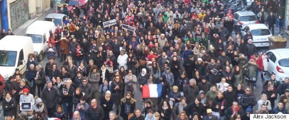 charlie hebdo demonstrations in marseille