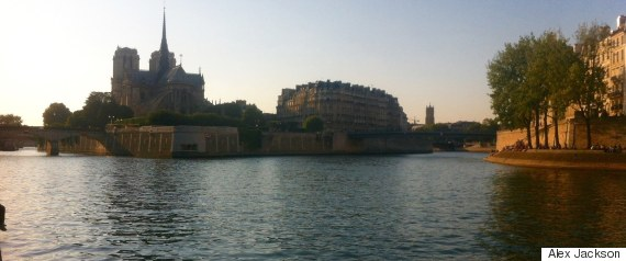 the banks of the seine in paris