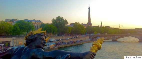 the view from pont alexandre iii in paris
