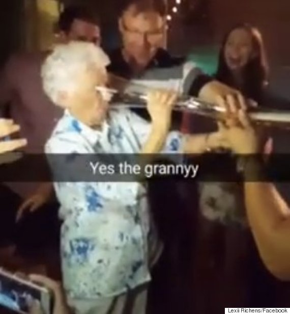 beer pong granny