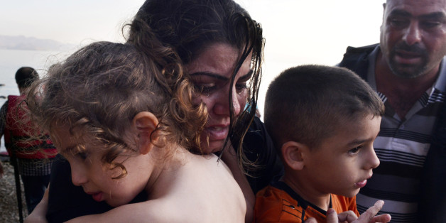 Flüchtlinge treffen auf der syrischen Insel Kos ein