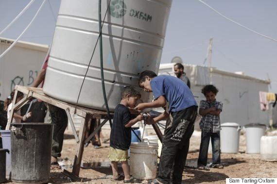 zaatari refugee camp water oxfam
