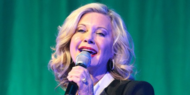 Actress and singer Olivia Newton-John performs at the American Music Theatre on Friday, Feb. 22, 2013, in Lancaster, Pa. (Photo by Owen Sweeney/Invision/AP)