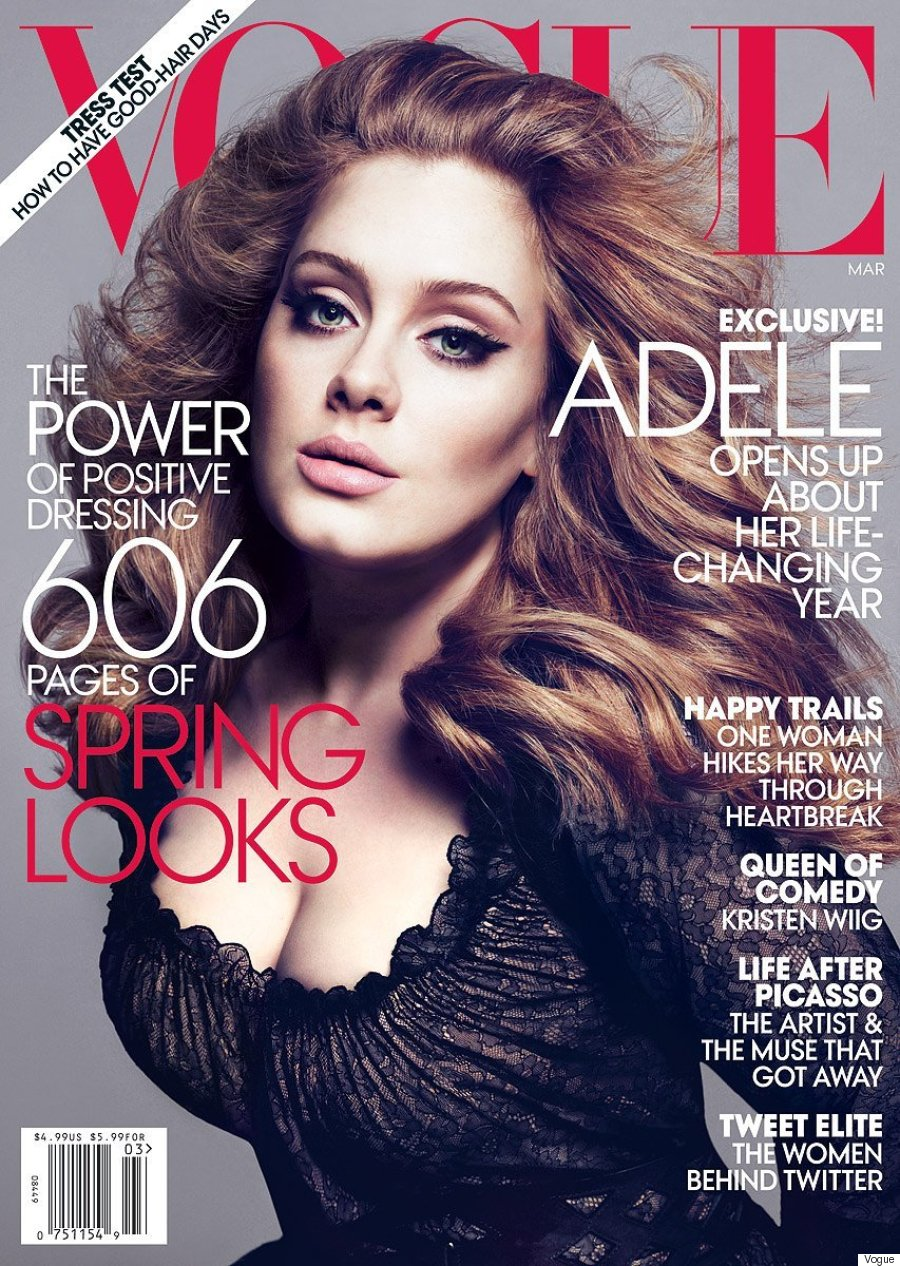 Adele Covers Vogues March 2016 Issue