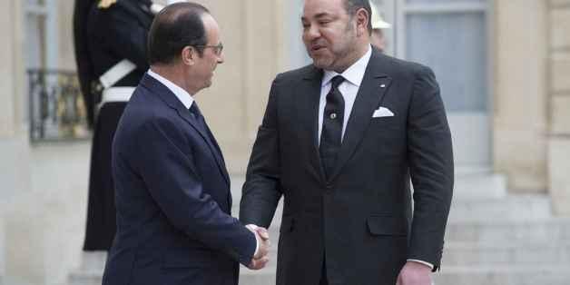 Mohammed VI reçu par François Hollande le 17 février