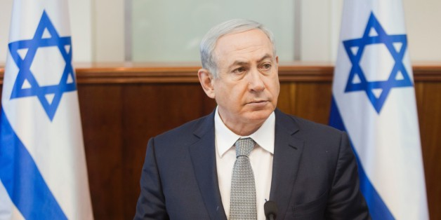 Israeli Prime Minister Benjamin Netanyahu attends the weekly cabinet meeting at the PM's office in Jerusalem on February 14, 2016.  / AFP / POOL / DAN BALILTY        (Photo credit should read DAN BALILTY/AFP/Getty Images)