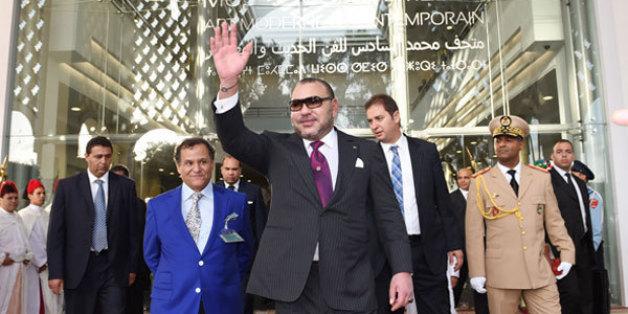 Le roi lors de l'inauguration du Musée Mohammed VI d'art moderne et contemporain à Rabat, octobre 2014