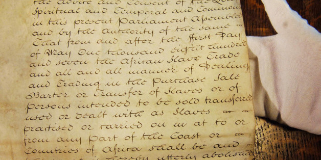 File photo dated 23/03/07 of the original 1806 Foreign Slave Trade Abolition Bill on show at the House of Commons. The 1,000-year-old practice of printing laws on goat and calf skin will continue, a minister has said just days after the House of Lords signalled the tradition would end.