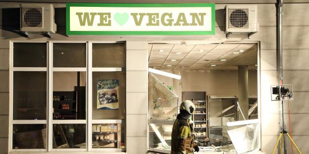 Eine Explosion zerstörte einen Supermarkt