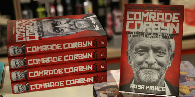 Copies of the book by Rosa Prince of Jeremy Corbyn 'Comrade Corbyn' are displayed for sale in Foyles bookshop