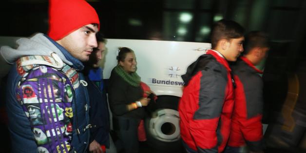 Symbolbild: Flüchtlinge an der österreichisch-deutschen Grenze