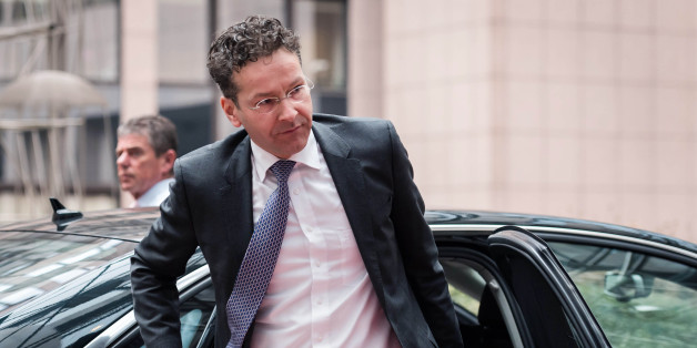 Dutch Finance Minister and Eurogroup President Jeroen Dijsselbloem arrives for an Eurogroup meeting at the EU Council building in Brussels on Monday, Feb. 16, 2015.  Greece's radical left government and its European creditors are heading into new talks Monday on the debt-heavy country's stuttering bailout program. (AP Photo/Geert Vanden Wijngaert)