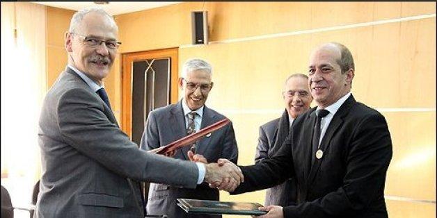 Jean-Marc Bonnisseau, vice-président de l'Université Paris 1 Sorbonne chargé des relations internationales, Lahcen Daoudi, ministre de l'Enseignement supérieur, de la recherche scientifique et de la formation des cadres,  Mostapha Bousmina, président de l'université euro-méditerranéenne de Fès (UEMF).