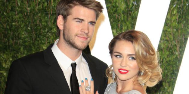 Liam Hemsworth und Miley Cyrus 2012 bei der Vanity Fair Oscar Party: Im selben Jahr macht er ihr einen Heiratsantrag