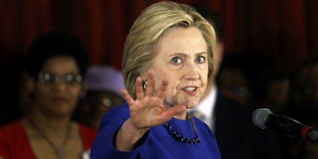 Democratic presidential candidate Hillary Clinton makes a point during a campaign stop, Wednesday, Feb. 17, 2016, in Chicago. (AP Photo/Charles Rex Arbogast)