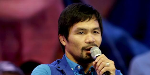 Manny Pacquiao à Manille aux Philippines le 9 février 2016