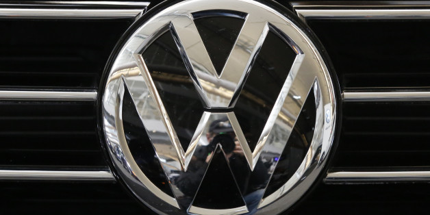 This is the Volkswagen logo on the grill of a Volkswagen automobile on display at the Pittsburgh International Auto Show in Pittsburgh Thursday, Feb. 11, 2016. (AP Photo/Gene J. Puskar)