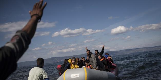 Auf einer kleinen griechischen Insel sind mehr Flüchtlinge angekommen, als es Einwohner gibt