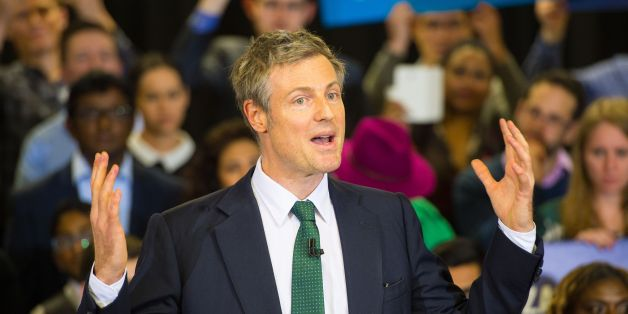 Conservative London Mayoral Candidate Zac Goldsmith speaks at a campaign event in Mill Hill, north London.