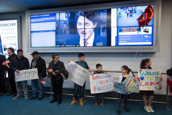 kurdi family syrian refugees arrival vancouver