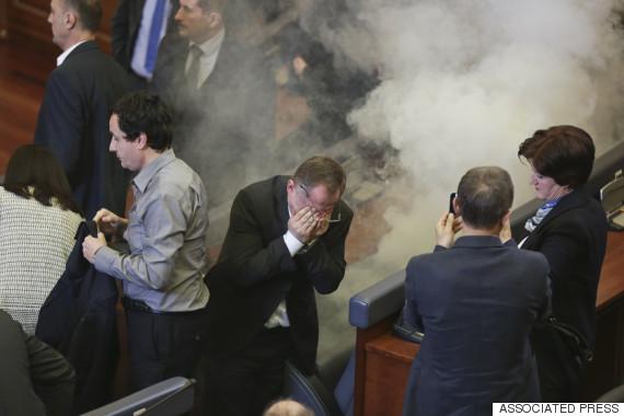 tear gas kosovo