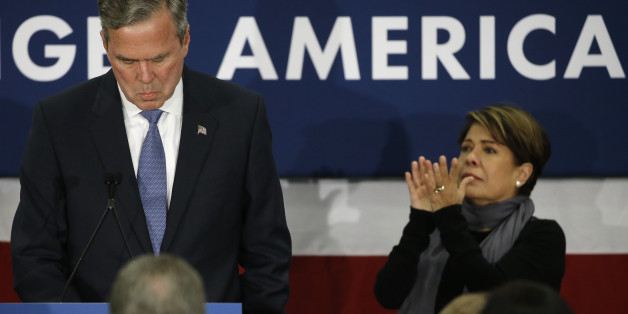 Jeb Bush, im Hintergrund seine Frau Columba