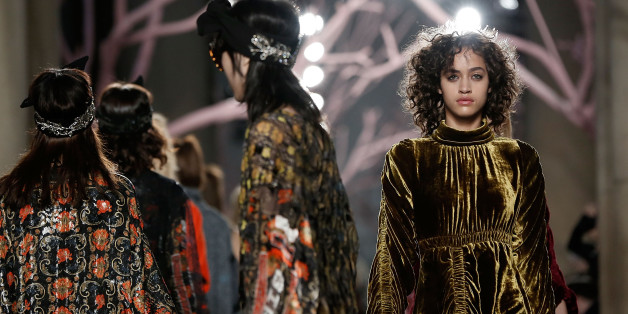 LONDON, ENGLAND - FEBRUARY 21:  Models walk the runway at the Preen by Thornton Bregazzi show during London Fashion Week Autumn/Winter 2016/17 at TopShop Show Space on February 21, 2016 in London, England.  (Photo by John Phillips/Getty Images)