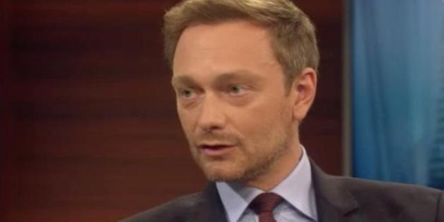 "FDP-Chef Christian Lindner bei ""Anne Will"""