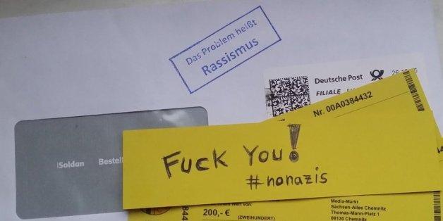 Ein Anonymous-Mitglied hat mit diesem Foto zahlreiche rechte Hetzer entlarvt