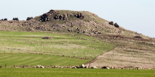 Photo prise le 28 janvier 2016 des collines de Galilée où le gouvernement israélien veut construire une ville pour la communauté druze