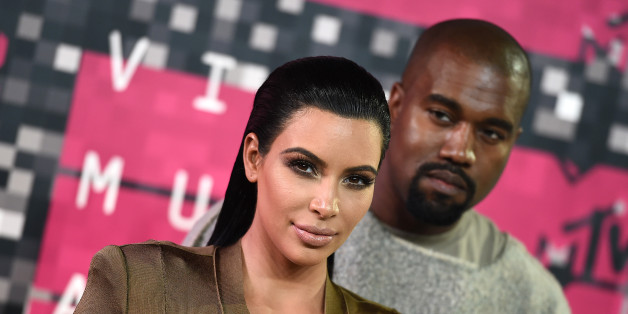 Kim Kardashian, left, and Kanye West arrive at the MTV Video Music Awards at the Microsoft Theater on Sunday, Aug. 30, 2015, in Los Angeles. (Photo by Jordan Strauss/Invision/AP)