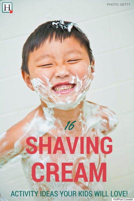 shaving cream art