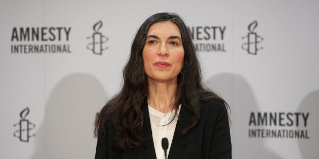 Selmin Çaliskan, Generalsekretärin von Amnesty International in Deutschland, stellte am 23.02.2016 Jahresbericht über die weltweite Lage der Menschenrechte vor.