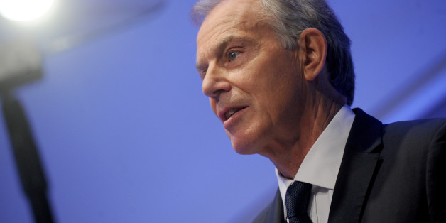 Tony Blair delivers a speech at the National September 11 Memorial Museum Auditorium in New York City, NY, USA, October 6, 2015. Blair said that while the essence of Islam is peaceful and compassionate, there is an ideology based on a perversion of Islam which threatens global security and that this ideology, as well as the violence which it often leads to, must be defeated. Photo by Dennis Van Tine/ABACAPRESS.COM